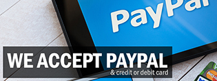 We accept PayPal and credit or debit card