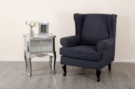 Dewsbury Arm Chair Dark Grey Armchairs Sofas Abreo