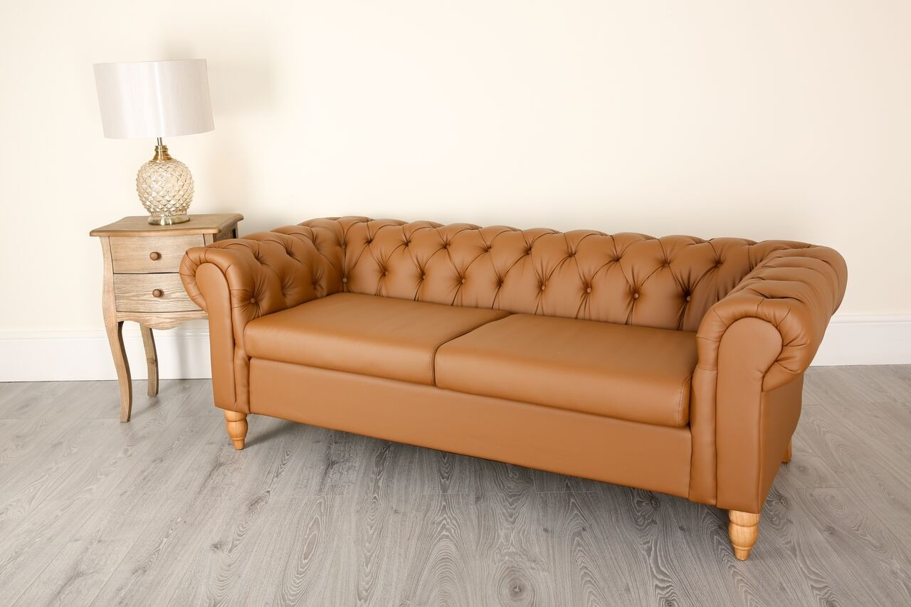 3 Seat Chesterfield Tan Brown Canterbury Chesterfield Sofas Sofas Abreo Home Furniture