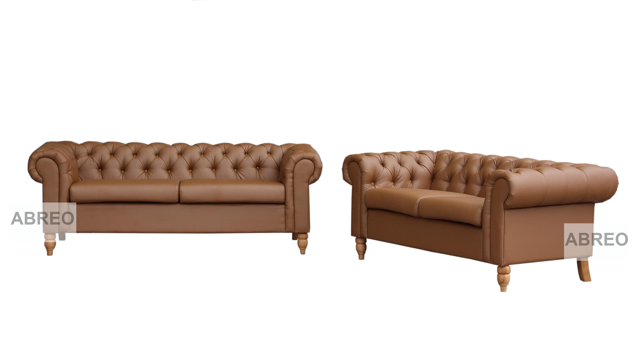 5 Seat Canterbury Tan Brown Range Chesterfield Sofas Sofas  ~ Chesterfield Brown Sofa