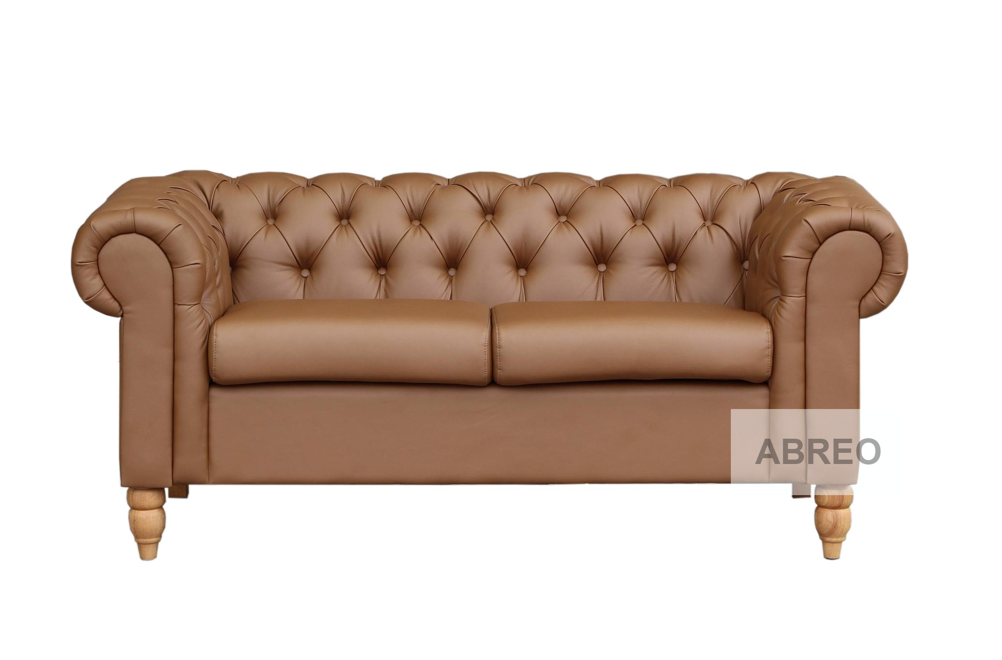 2 Seat Chesterfield Tan Brown Canterbury Chesterfield Sofas