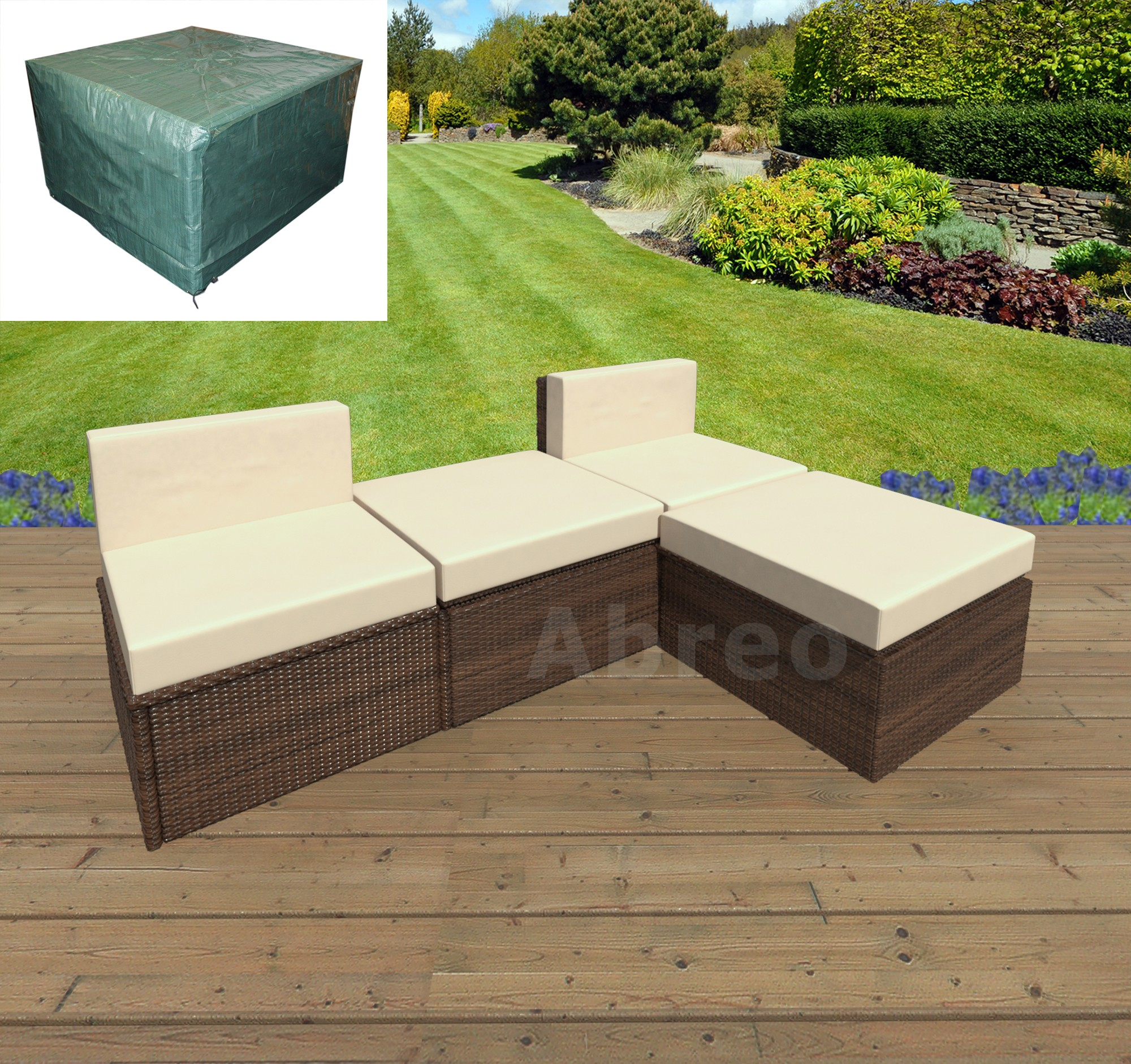 Camelot Garden Furniture Covers Fabulous garden furniture algarve 4 piece algarve rattan sofa set for patios conservatories and two single seats with two ottomans workwithnaturefo