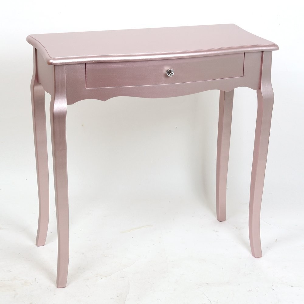Rose Gold Metallic Console Table Abreo Home Furniture