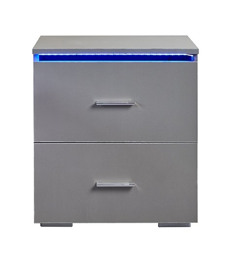 Grey Led Bedside Table Abreo Home Furniture