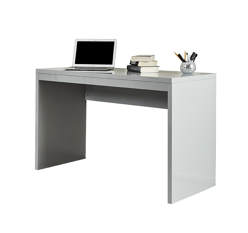 Grey High Gloss Desk Console Dressing Table Abreo Home Furniture