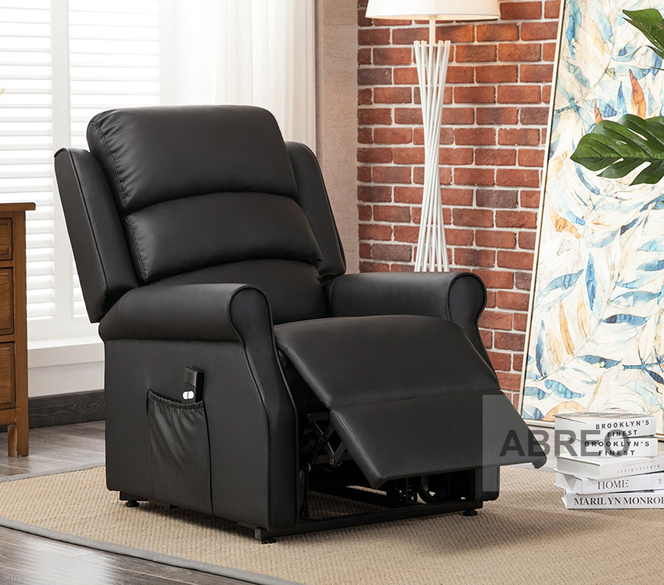Black Lift And Rise Recliner Mobility Chair Recliner