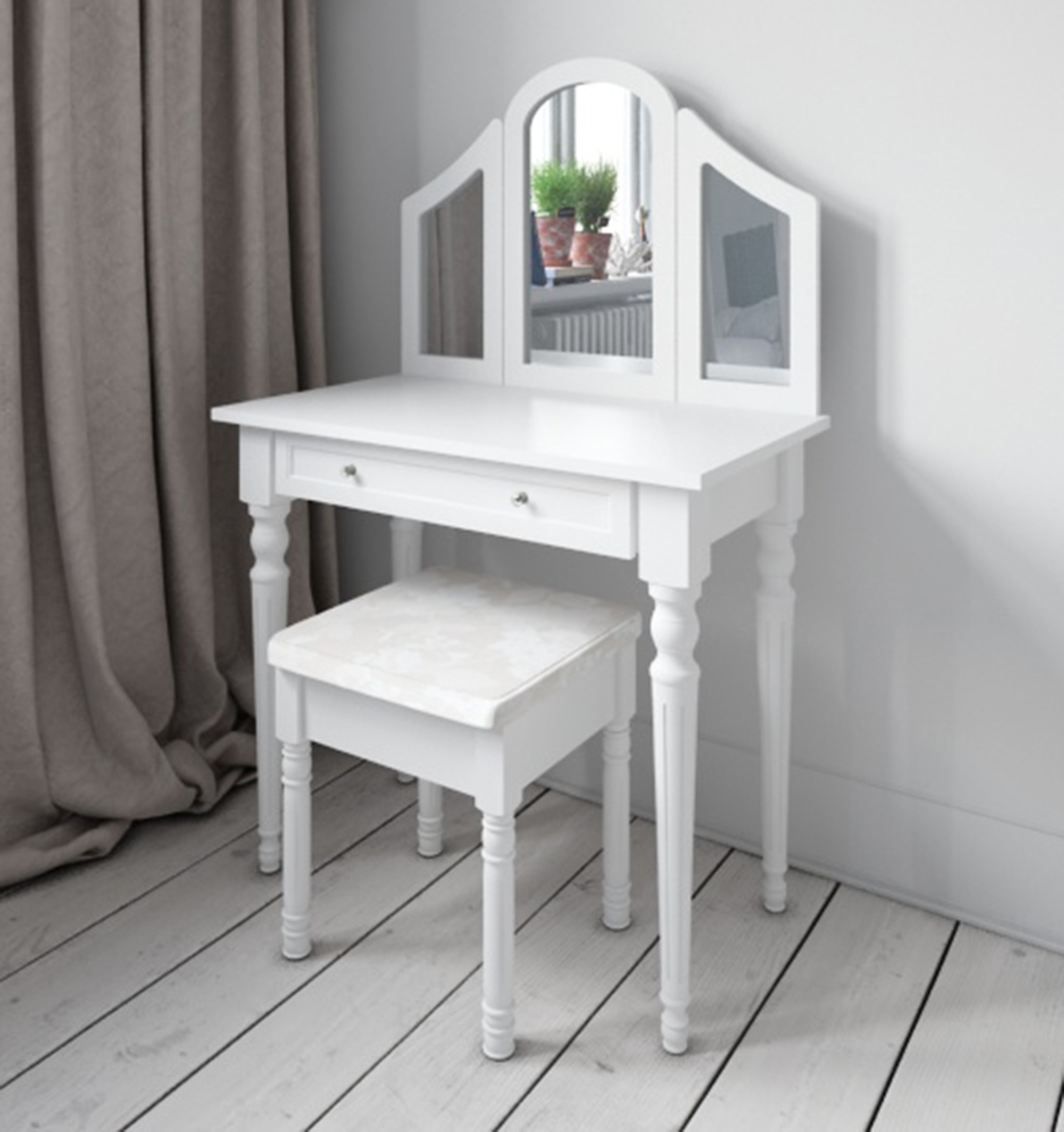 3 mirrored dressing table from abreo abreo home furniture shabby chic white geotapseo Images