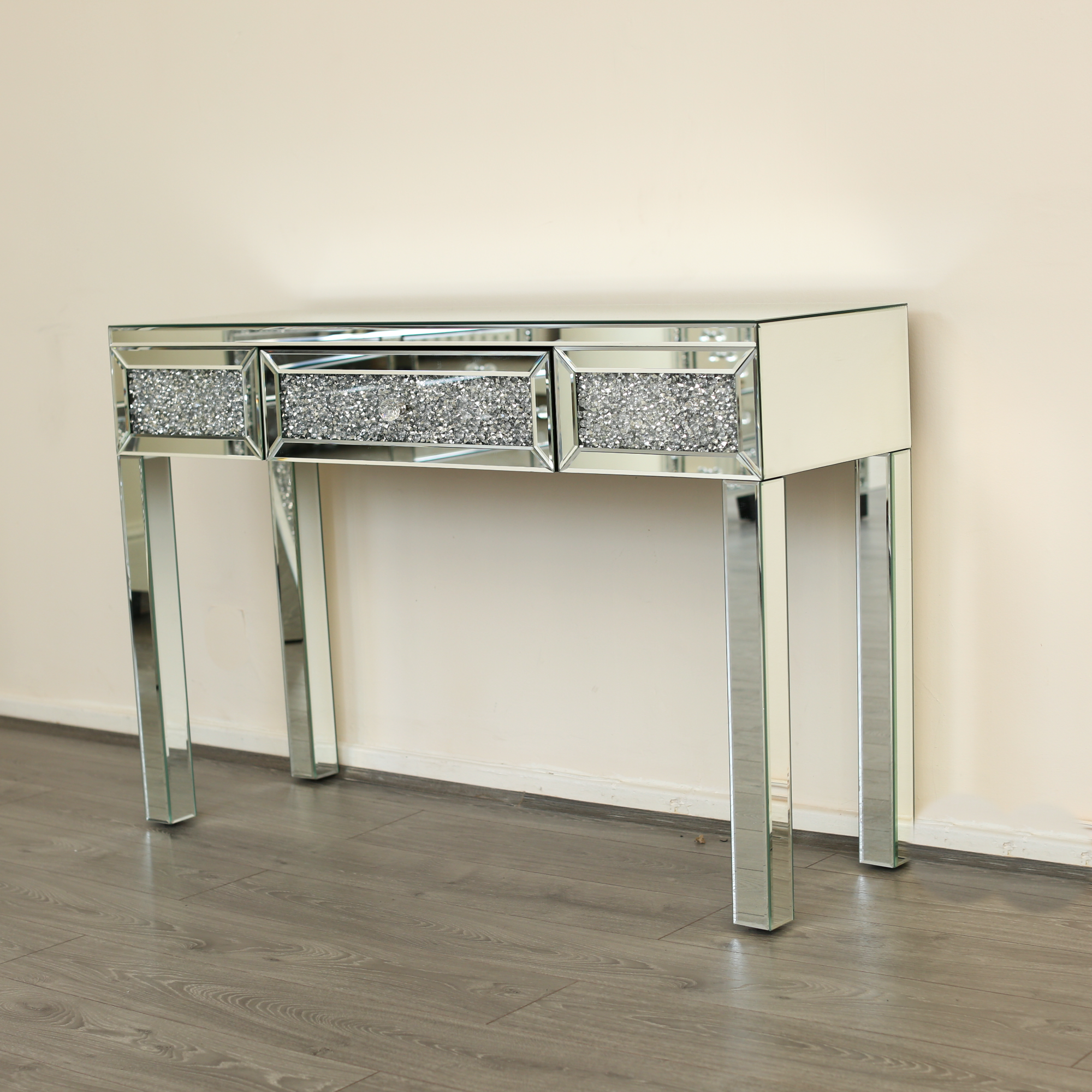 Diamond Crush Dressing Console Table Abreo Abreo Home