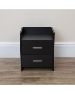 Black Bedside Table