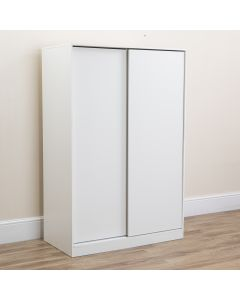 Double Sliding 2 Door Wardrobe White