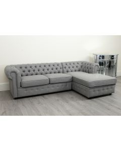 Empire Grey Linen Right Hand Corner Sofa