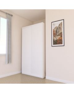 White Sliding Door Double Wardrobe