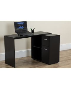 Black Computer Desk with Storage
