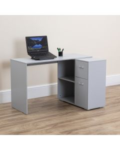 Grey Computer Desk with Storage