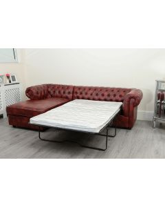 Empire Oxblood Red Left Hand Sofa Bed