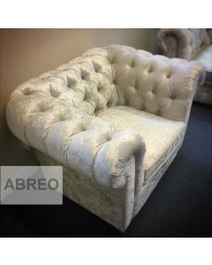 Empire Arctic Silver Crushed Velvet Armchair