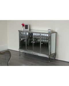 Sophia Mirrored Sideboard Silver Shabby Chic