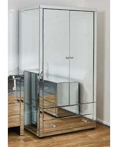 Venetian Glass Mirrored Wardrobe