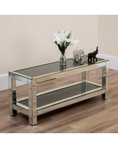 2 Tier Black Diamond Crush Slim Coffee Table
