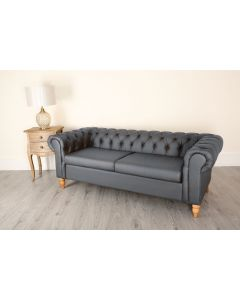 3 Seat Chesterfield Grey Canterbury