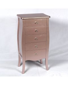 Rose Gold 5 Drawers Tallboy