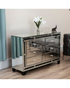 Black Diamond Crush Chest of Drawers / Side Board