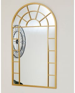 Gold Church Style Arch Wall Mirror