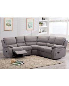 Ludlow Reclining Corner Sofa In Grey Linen