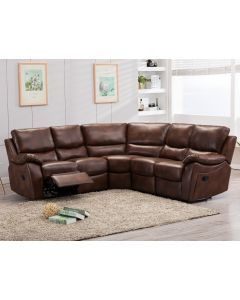 Ludlow Reclining Corner Sofa In Brown Leather Air