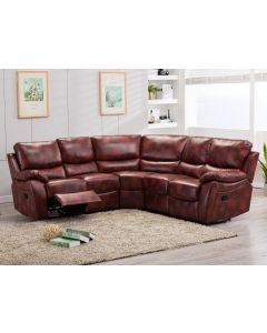 Ludlow Reclining Corner Sofa In Oxblood Red PU