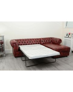 Empire Oxblood Red Right Hand Sofa Bed