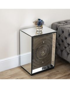 Gold Mirrored 3 Drawer Chest