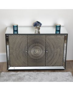 Gold Mirrored 3 door Sideboard