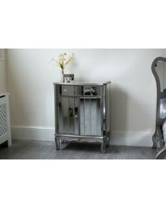 Sophia Mirrored Shabby Chic Cabinet