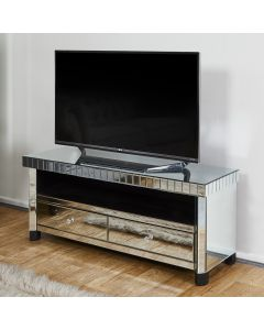 Tuscany Mirrored TV Stand with 2 Drawers