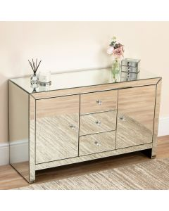 Large Venetian Mirrored Sideboard