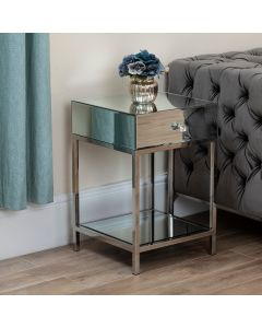 Harper Mirror 1 Drawer Side Table