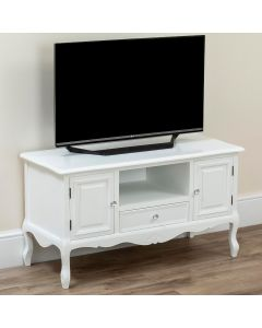 Country White TV Stand