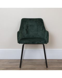 Aria Emerald Green Velvet Chairs