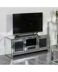 Black Diamond Crush TV Stand