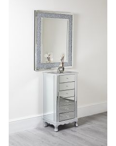 Mirrored Glass Tallboy
