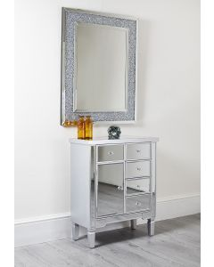 Mirrored Cabinet Table Hallway Lounge Storage