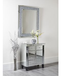 Mirrored Hall Storage Cabinet Lounge Bedroom