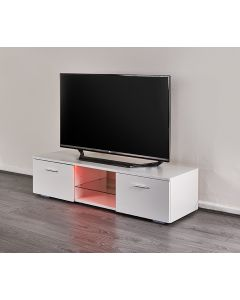 LED TV stand with integrated storage