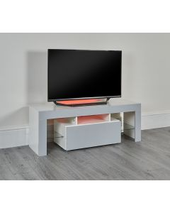 LED TV stand with storage drawer