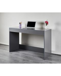Dark Grey Desk Home Office Small Office Console Dressing Table