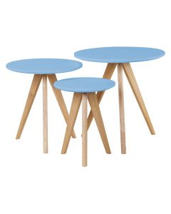 Blue Nest of Tables
