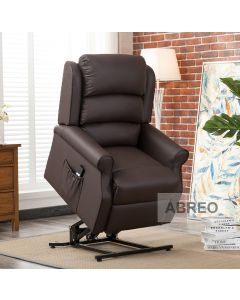 Brown Lift and Rise Recliner Mobility Chair