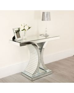 C Frame Mirrored Console Table