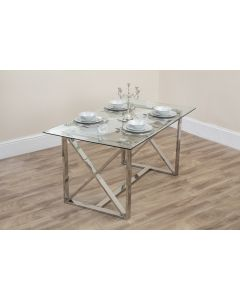 Clara Metal Frame Glass Table